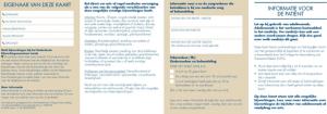 Hyrimoz patienten waarschuwingskaartjes Volwassenen-Kinderen